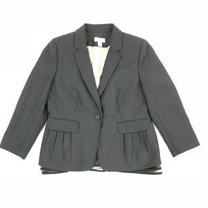 Ann Taylor Loft Tulle Peekaboo Hem Blazer Jacket